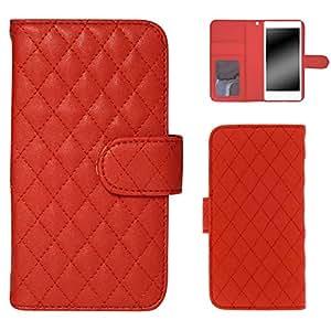 Whitenuts 手机保护壳 笔记本式 绗缝款 红色 5_ ARROWS NX F-06E