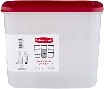 Rubbermaid 16 杯干燥食品容器,1 包