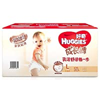 HUGGIES 好奇 铂金装 成长裤 尿不湿 箱装 大号L76片(适合10-14kg)