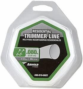 "Arnold 490-010-0027 40-Ft. .080 Trimmer Line 40'-0.080"" Round"