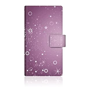 CaseMarket 【翻盖式】 SoftBank Galaxy S6EDGE ( SC ) 超薄壳针脚模型 [ 星云的乱舞日式图案紫色夜–紫夜 ] SC - vcm2s2478Samsung