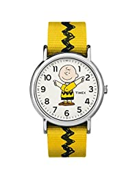 Timex Unisex Adult 带子TW2R41100 Analogue Classic Nylon Yellow TW2R41100