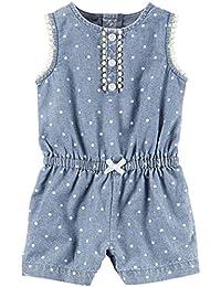 Carter ' s 女婴1件套 appliqué snap-up 连衫裤