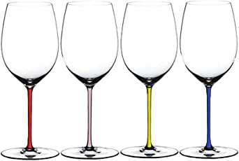 RIEDEL醴铎波尔多手工红酒杯4900/0P 水晶玻璃透明高脚杯粉色杆半手工杯红葡萄酒杯单只价(亚马逊自营商品, 由供应商配送)