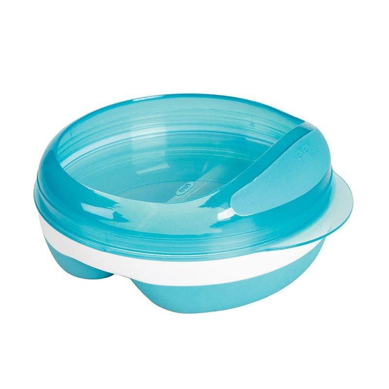 美国 OXO 奥秀 分格喂食餐碟 浅蓝色 150ml 适合6个月以上宝宝(不含BPA,邻苯二甲酸酯和PVC)