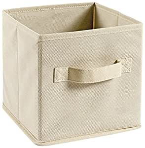 Perfetto Scatola Custodia TNT 简易盒尺寸 20 x 20 x 20 厘米。 拼色,织物,Ecru,One