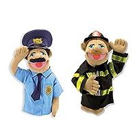 Melissa & Doug 救援木偶玩具套装 - 警务人员和消防队员