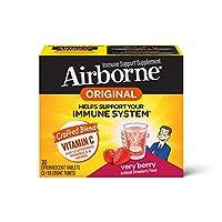 Airborne 草莓味VC泡騰片,30片,1000毫克維生素C