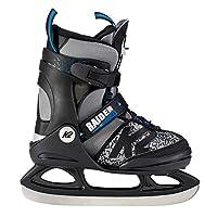K2 滑板男孩的滑冰鞋,灰色黑色