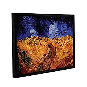 Vincent Vangogh's Whaetfield With Crows, Gallery-Wrapped Floater-Framed Canvas 18X24