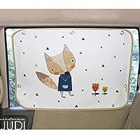 汽车遮阳帘适用于婴儿儿童侧窗 - 汽车遮阳保护膜 - 阻挡 95% 以上的紫外线和阳光炫光设计汽车内饰*盲孔 JUDI Fox