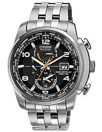 Citizen 西铁城 男式多表盘太阳能手表不锈钢表带 AT9010-52E_BLK