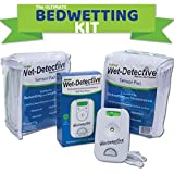 Wet Detective Incontinence & Bedwetting Pad Alarm System with 2 Sensor Pads