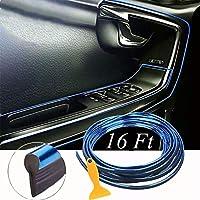 车内饰 立体DIY 5米电镀彩色膜车内饰 车内饰 装饰条 条条 (蓝色)