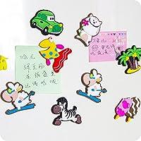 【创意磁铁冰箱贴】创意磁铁冰箱贴卡通可爱留言板立体动物硅胶吸铁石装饰磁贴 (冰箱贴随机40个)
