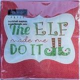 The Elf Made Me Do It 鸡尾酒餐巾