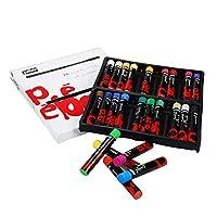 Pebeo 41787 油蜡笔长度:67 mm 轴直径 10 mm 纸板盒 24 支各种颜色