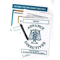 套装包括两个 Living Will、给*的高级指令和审判法律表单的*力量、赠信息图和纸笔 Texas