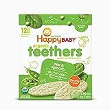(跨境自营)(包税) Happybaby 禧贝 宝宝有机温和磨牙饼干 豌豆菠菜味 48g
