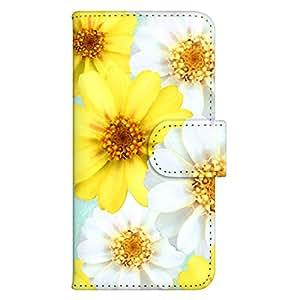 智能手机壳 手册式 对应全部机型 印刷手册 wn-666top 套 手册 花朵图案 UV印刷 壳WN-PR352841-S AQUOS PHONE ef WX05SH 图案F