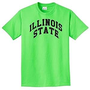 NCAA 伊利诺伊州红鸟队拱霓虹 T 恤,霓虹绿,4XL 码