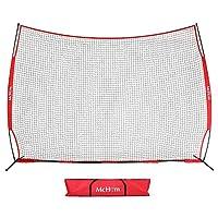 McHom 12 英尺 x 9 英尺运动屏障网 | 适用于棒球、垒球、足球、篮球、曲棍球和曲棍球的后挡板 | 可折叠且便携
