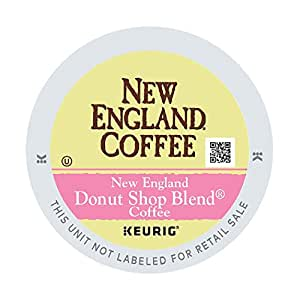 New England Coffee 新英格兰 甜甜圈店混合咖啡,单杯咖啡K杯胶囊,轻度烘培,12粒(6盒包装)