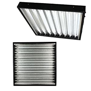 Apollo Horticulture T5 2 Foot Commercial Grow Light Fixture - Choose Your Size & Color Temperature Growth - 6400K 8 Bulbs