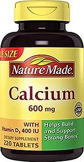 Nature Made莱萃美Calcium钙片 600 毫克 含维生素 D3 补钙 220粒 2瓶