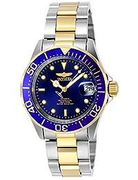 INVICTA Pro Diver系列间金钢壳/钢带蓝面自动男表 8928A