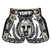TUFF 复古泰拳拳击短裤武术服装训练健身短裤经典修身剪裁