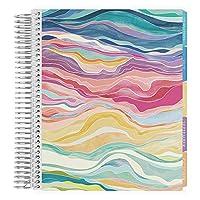Erin Condren 18 个月 2020-2021 分层彩色卷绕生活计划手册带花朵力量内饰(2020 年 7 月 - 2021 年 12 月)垂直每周布局。 组织者,月历标签和贴纸