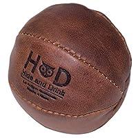 Hide & Drink,皮革压力球/手疗/挤压/运动球/物理*/*/强化,手工制作包括 101 年保修:波旁棕色