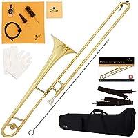 Cecilio Bb Tenor Slide Trombone 提供 1 年保修、调谐器、口袋簿等