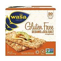 Wasa Gluten Free Sesame & Sea Salt Crispbread, 6.1 Ounce (Pack of 10)