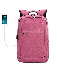 kopack 笔记本电脑背包带 USB 充电端口 紫色