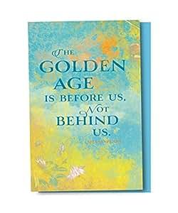 无树问候语 EcoNotes 12 个年龄 Doesn't Mean 空白记事本套装带信封,适用于各种场合,Ralph Waldo Emerson 语录 (FS56960) Golden Age