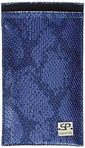 SIMON PIKE 手机壳 波士顿 01 金色 适用于苹果 iPhone 5S 5C 5 人造革鳄鱼298957 Boston blau-schlange