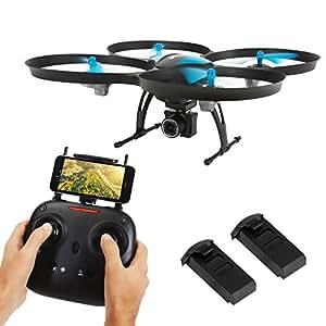 SereneLife FPV 无人机 带高清摄像头和现场视频。 无头模式四轴飞行器,高度保持,1 键接管/拉绳,附赠电池,低电压报警,定制路线模式SLRD42WIFI  With WiFi n.a.