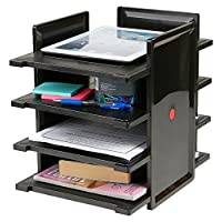 Mind 阅读器 DOCUMENT 托盘字母文件夹文件用品配件桌面收纳盒4层4桌面黑色