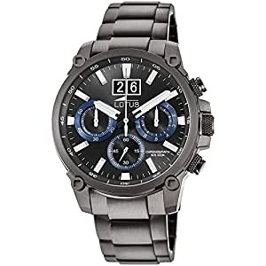 Lotus 男式计时石英手表不锈钢表带 10140/3