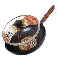 PEARL LIFE 日本珍珠生活(日本进口)Z-30323纯铁锅无涂层凹凸防粘30厘米炒锅套装 H-2512锅具套装