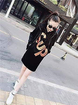 秋冬新款时尚套装女中长款双面绒SUP字母加绒卫衣加棉马甲两件套桔色 XXXXXL