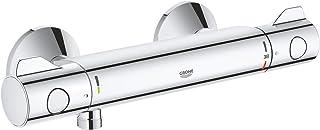 GROHE 高仪 Grohtherm 800 花洒控温器 34558000,带有集成式止流阀/38°C限温锁,镀铬