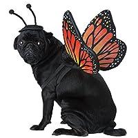 加州服装 Monarch 蝴蝶宠物服装- 如图所示 X-S