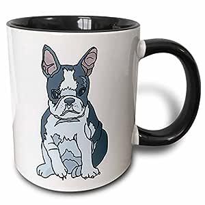 设计玫瑰金色可爱又逗人喜爱–可爱的狗狗法国斗牛犬 PUP–马克杯 黑色/白色 11 oz