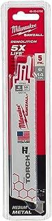 "Milwaukee Tool 6"" 14 TPI 手电锯锯刀(5 件)48-00-5782"