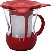 Hario  哈里欧 一杯茶马克杯 200毫升  红色