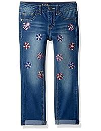 Lee 女童时尚紧身七分牛仔裤