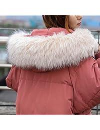 范纪思 棉服女 兰芝冬新款宽松长款纯色 毛领厚棉衣